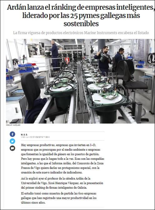 Artículo Voz de Galicia